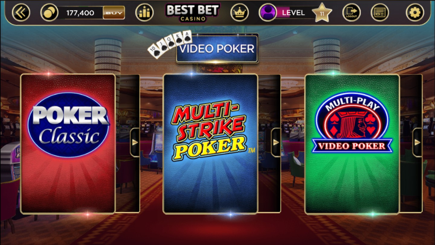 free casino video poker